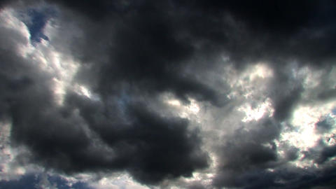 Stormy skies time lapse clouds looping Stock Video Footage