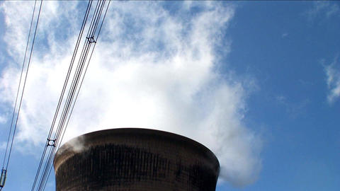 Power station smoking and producing electricity Footage
