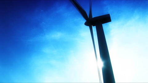 Wind Power Farm Producing Energy In The Environment stock footage