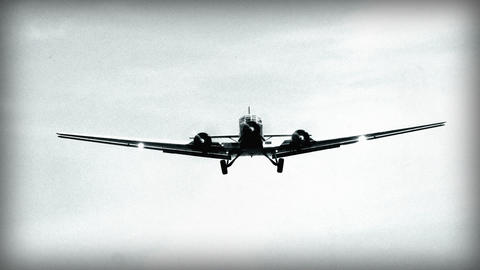 BW airplane Junkers JU 52 fly over super close 10922 Stock Video Footage
