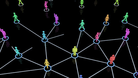 Social Network Connection A 1m 2 Stock Video Footage
