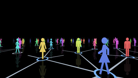 Social Network Connection A 2m 2 Animation