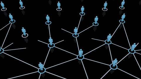 Social Network Connection B 1m 2 Animation