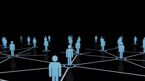 Social Network Connection B 4m 2 Animation