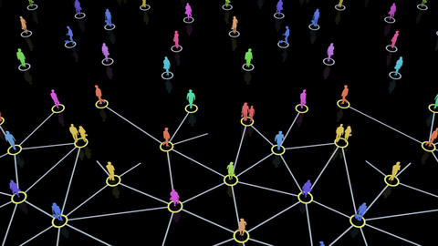 Social Network Connection C 3m 2 Stock Video Footage