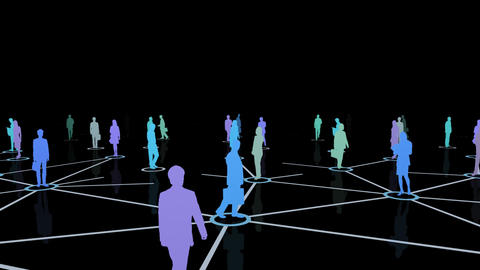 Social Network Connection D 4m 2 Animation