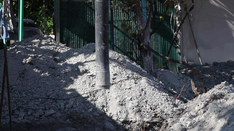 Pump for concrete pouring Footage