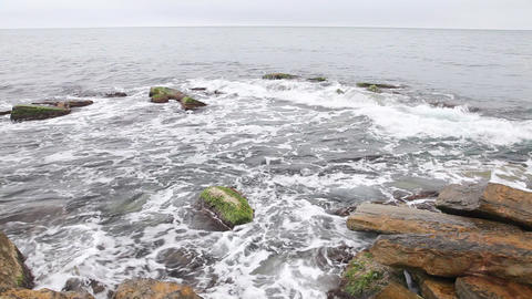 Storm waves Stock Video Footage