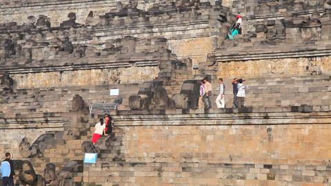 Borobudur temple Stock Video Footage