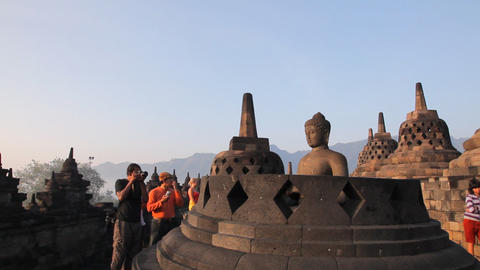 Borobudur temple Stock Video Footage