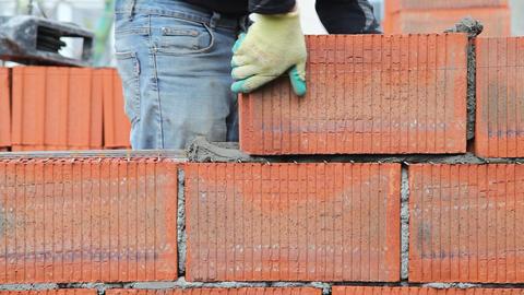 Brick installation Footage