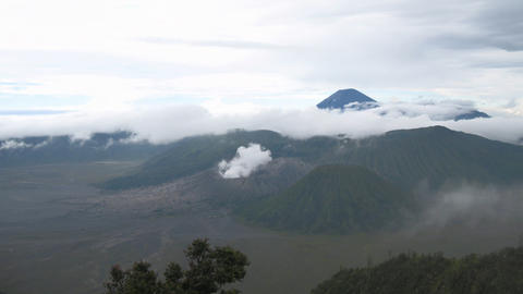 Indonesian Volcanos landscape timelapse Stock Video Footage
