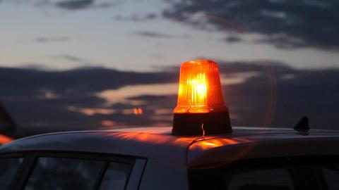 Car alarm flashing Stock Video Footage