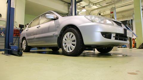 Car repair shop sequence Footage
