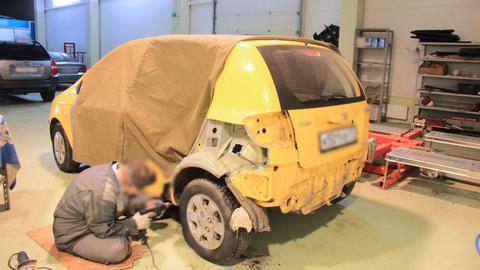 Car repair shop timelapse Stock Video Footage