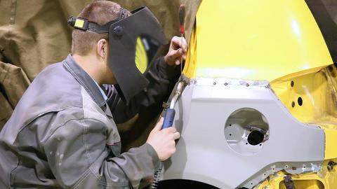 Car welding 5496 HD Footage