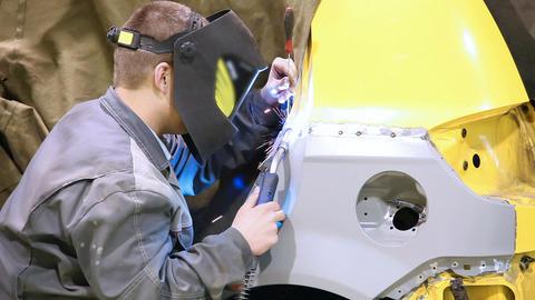 Car welding 5496 HD Stock Video Footage