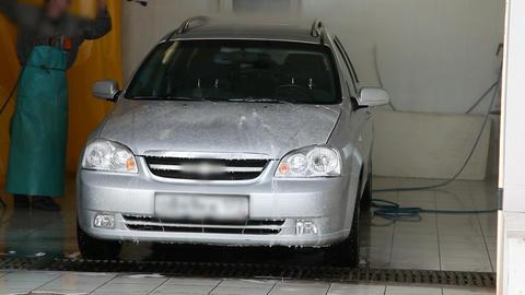 Man washing a car Stock Video Footage