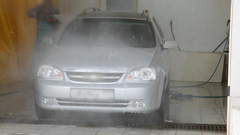Man washing a car Footage
