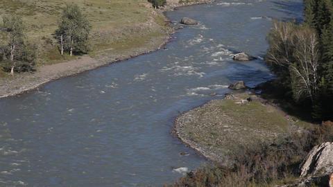 Mountain rivers Chuya and Katun in Russian Altai Footage
