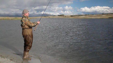 Fishing sequence Stock Video Footage