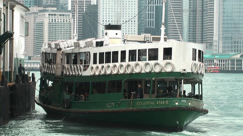 Hong Kong ferry edit 0012 HD Stock Video Footage