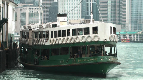 Hong Kong ferry edit 0012 HD Stock Video Footage