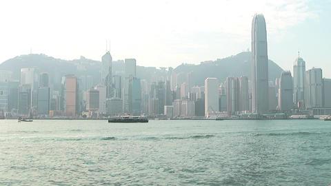 Hong Kong harbor 0937 HD Stock Video Footage