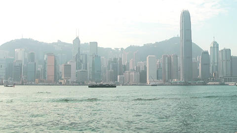 Hong Kong harbor 0937 HD Footage