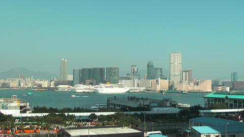 Hong Kong harbor 0952 HD Stock Video Footage