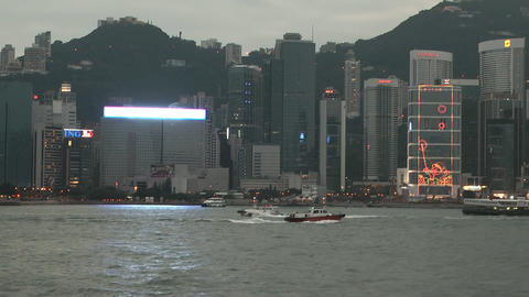 Hong Kong harbor edit 0119 HD Footage