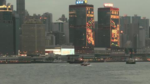 Hong Kong harbor edit 0123 HD Stock Video Footage