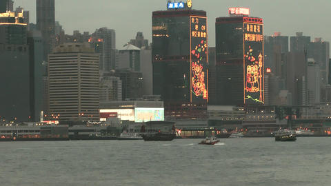 Hong Kong harbor edit 0123 HD Footage