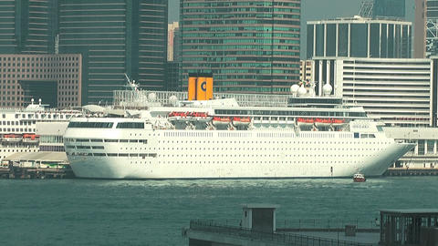 Hong Kong harbor edit 0953 HD Stock Video Footage