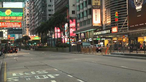 Hong Kong Natan road edit 0109 HD Stock Video Footage