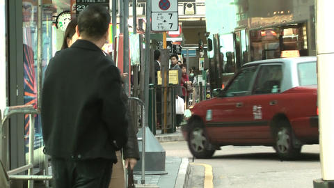 Hong Kong Natan road edit 0112 HD Stock Video Footage