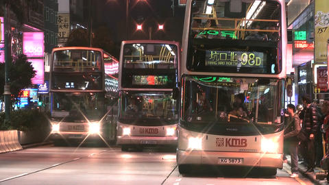 Hong Kong Natan road edit 0905 HD Stock Video Footage