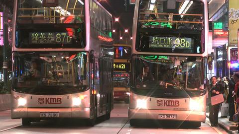 Hong Kong Natan road edit 0905 HD Stock Video Footage