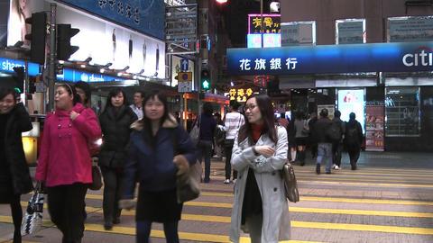 Hong Kong Natan road edit 0911 HD Stock Video Footage