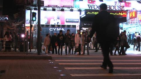 Hong Kong Natan road edit 0919 HD Stock Video Footage
