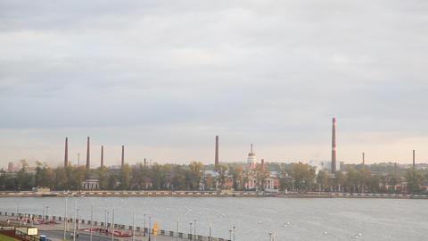Industrial landscape Stock Video Footage