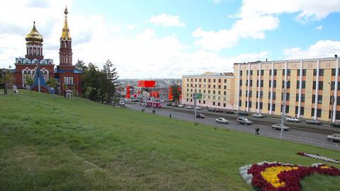 Street in Izhevsk Stock Video Footage