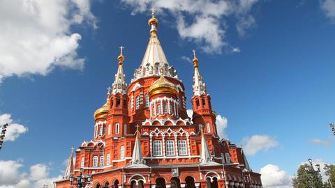 Svyato Mihailovsky Cathedral Izhevsk Stock Video Footage