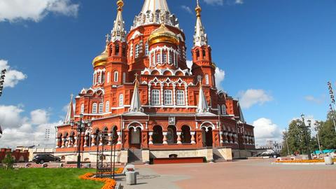 Svyato Mihailovsky Cathedral Izhevsk Footage