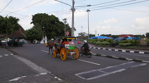 Jogjakarta City stock footage