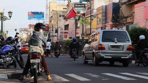 Jogjakarta city Stock Video Footage