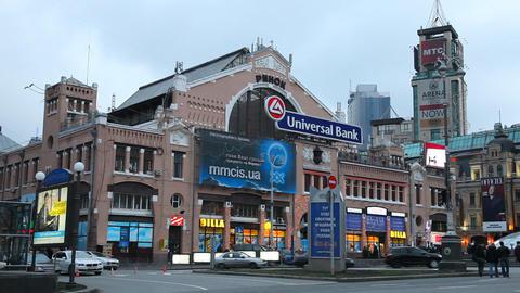 Besarabsky Market in Kiev Footage