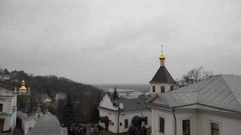 Kiev Pechersk Lavra in Kiev Footage