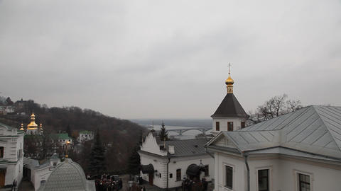 Kiev Pechersk Lavra in Kiev Stock Video Footage