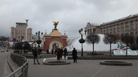 Maidany in Kiev Stock Video Footage